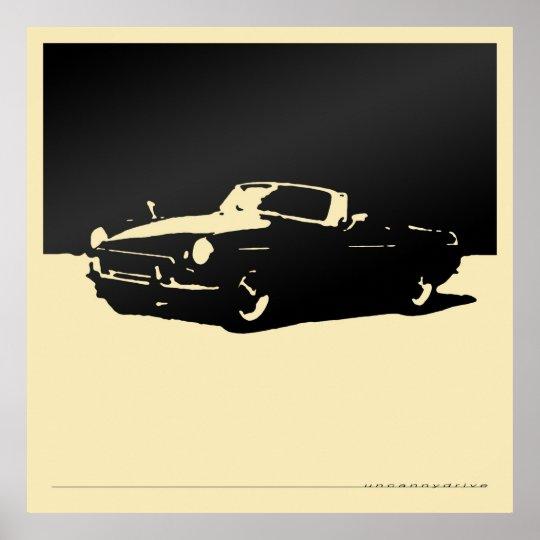 MGB, 1971 - Black on light cream Poster