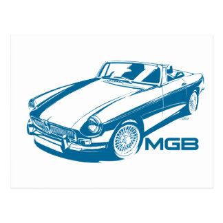 MGB blue Postcard