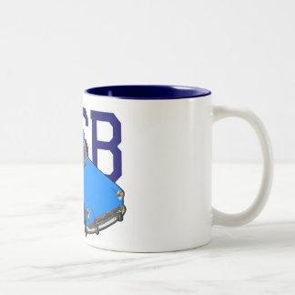 mgb blue Two-Tone coffee mug