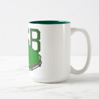 mgb green Two-Tone coffee mug