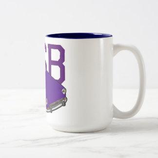 mgb purple Two-Tone coffee mug