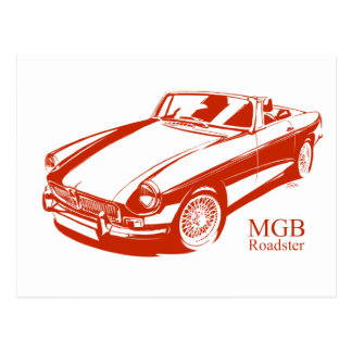 MGB red Postcard