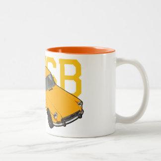 mgb yellow Two-Tone coffee mug