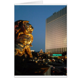 MGM Lion over looking the Las Vegas Strip Card