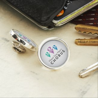 MGMC Logo Silver Plated Lapel Pin - Round