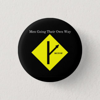 MGTOW Logo Button-Small-Black Background Button