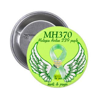 MH370-Forever en nuestros corazones y prayers_ Pin Redondo 5 Cm