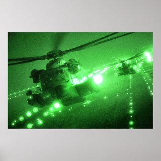 MH-53 pavimentan puntos bajos Póster