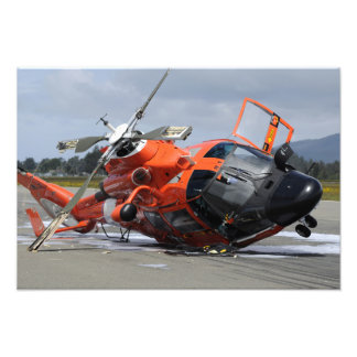 MH-65 Dolphin helicopter crashed at Arcata Airp Photo Print