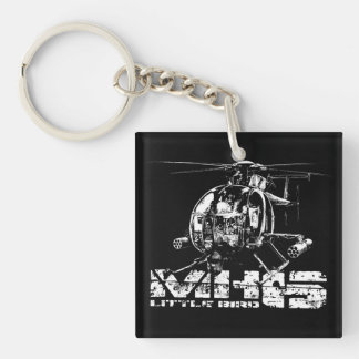 MH-6 Little Bird Double-Sided Square Acrylic Keyc Double-Sided Square Acrylic Keychain