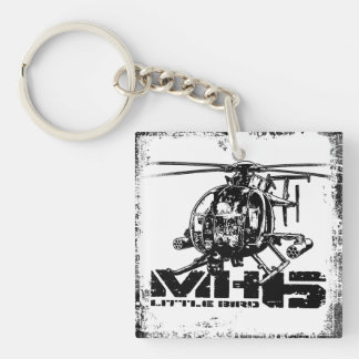 MH-6 Little Bird Double-Sided Square Acrylic Keyc Keychain