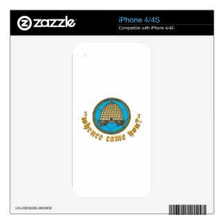 Mhence Came You iPhone 4 Skins