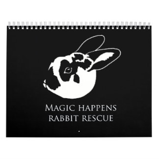 MHRR Honeybadger Bunny Rabbit 12 month calendar