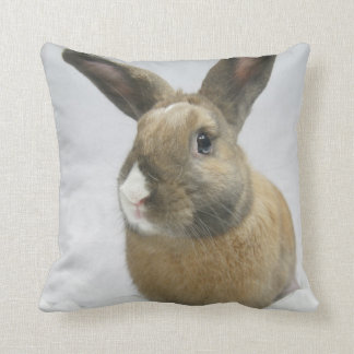 MHRR Honeybadger bunny rabbit throw pillow