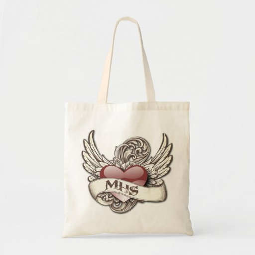 MHS Panthers Angels Alumni Shopping Tote Grocery Canvas Bags