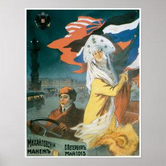 Mhxahnobckia 1913 Automobile Vintage Ad Art Poster