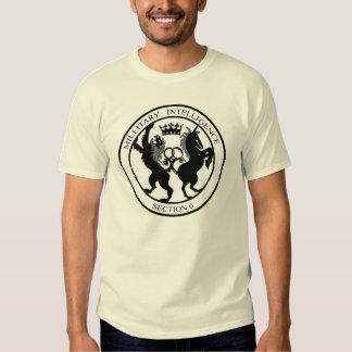 MI6 Secret Service Logo Black Tshirts
