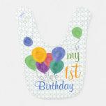 Mi 1r cumpleaños hincha (verde/el azul) babero para bebé