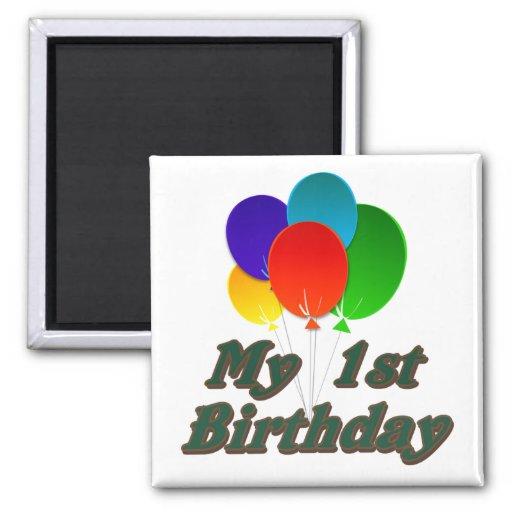 Mi 1r cumpleaños imán de nevera