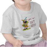 Mi 1r navidad - camiseta del niño de los pingüinos