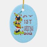 Mi 1r navidad - ornamento de los pingüinos ornaments para arbol de navidad