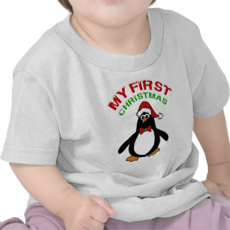 Mi 1r pingüino del navidad camisetas