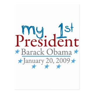 Mi 1r presidente (Barack Obama) Tarjeta Postal