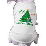 Mi 1ra camisa del navidad para los perros camiseta de mascota