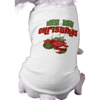 Mi 1ra camisa del perro del navidad camisetas de mascota