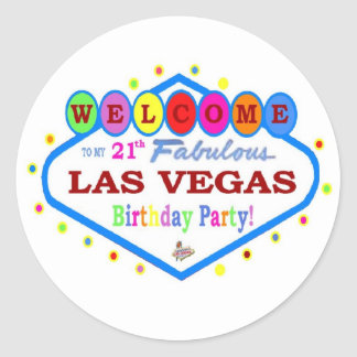Mi 21a fiesta de cumpleaños en el pegatina de Las