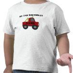 Mi 2do personalizar del cumpleaños él camisetas