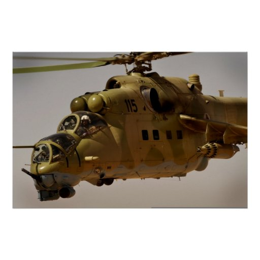 Mi-35 Hind helicopter gatling gun Print | Zazzle