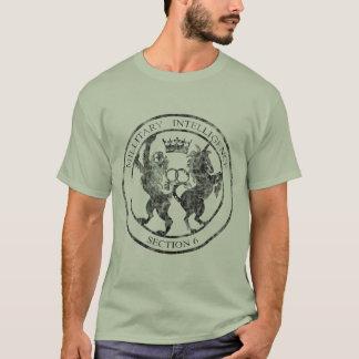 MI-6 Secret Service Logo Black Distressed T-Shirt
