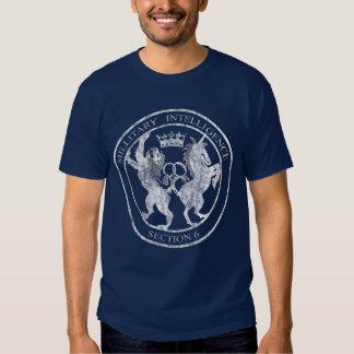 MI-6 Secret Service Logo White Distressed T-Shirt