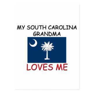 Mi abuela de Carolina del Sur me ama Tarjetas Postales