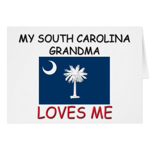 Mi abuela de Carolina del Sur me ama Tarjetón