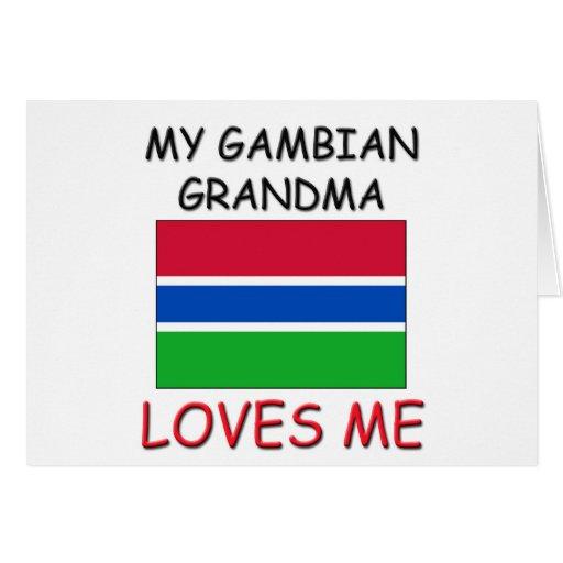 Mi abuela de gambiano me ama tarjeta de felicitación