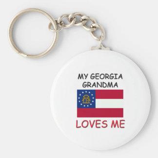 Mi abuela de Georgia me ama Llavero Personalizado