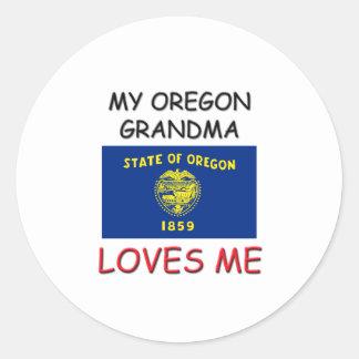 Mi abuela de Oregon me ama Pegatina Redonda