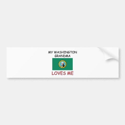 Mi abuela de Washington me ama Pegatina De Parachoque