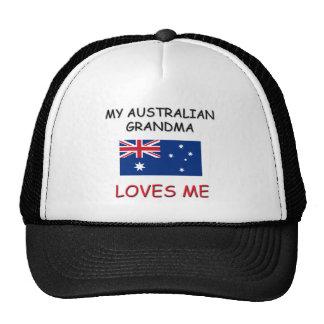 Mi abuela del australiano me ama gorros