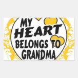 mi abuela del corazón - amarillo rectangular altavoz