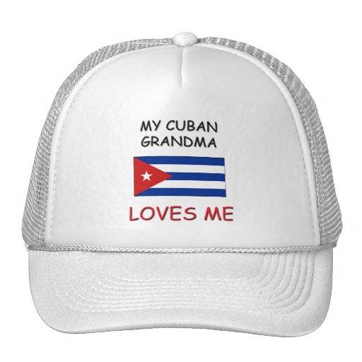 Mi abuela del cubano me ama gorros bordados