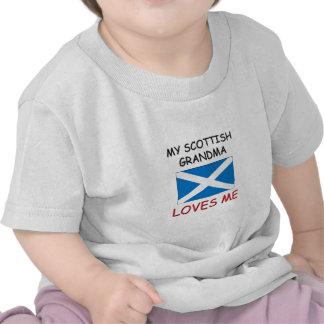 Mi abuela del escocés me ama camiseta