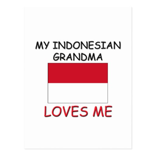 Mi abuela del indonesio me ama tarjetas postales