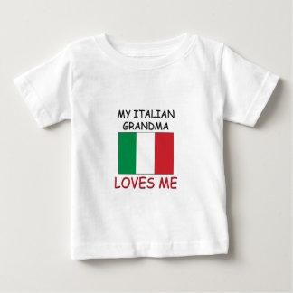 Mi abuela del italiano me ama playera de bebé