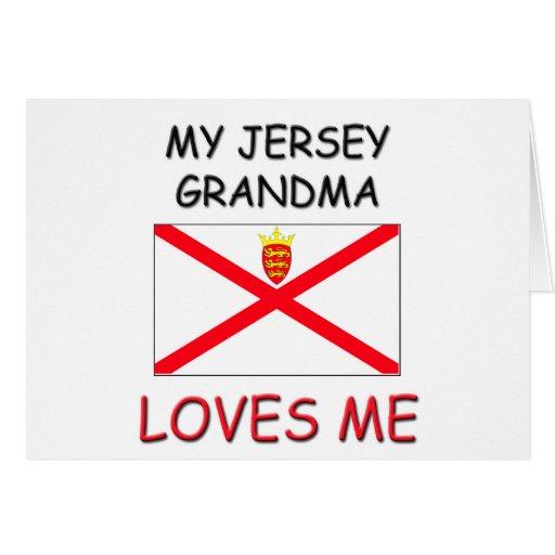 Mi abuela del jersey me ama tarjeta