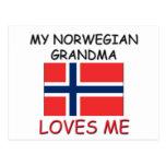 Mi abuela del noruego me ama postales