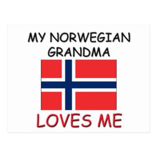 Mi abuela del noruego me ama postal