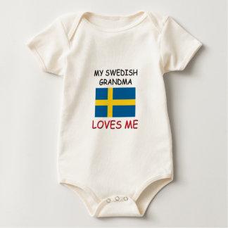 Mi abuela del sueco me ama trajes de bebé
